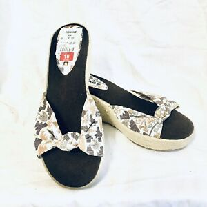 Rampage-Espadrilles-Wedge-Sandals-Earth-Tones-Geometric-Size-10-NWT