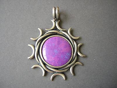 Massiver Anhänger Aus Geprüftem Silber Violett Blauer Stein 25,6 G/ 6,4 X 4,7 Cm Fine Jewelry