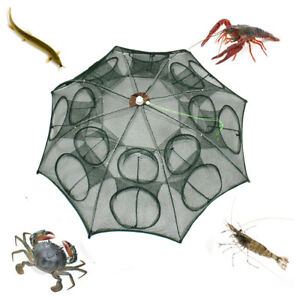 Foldable-Crab-Shrimp-Net-Trap-Cast-Dip-Cage-Fishing-Bait-Fish-Minnow-Crawfish
