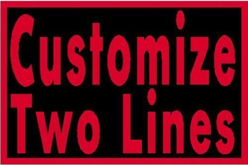 """Custom Embroidered 9/"""" x  4/"""" Name Tag Sew Iron-On Patch 2 LINES Tactical Patch #3"""