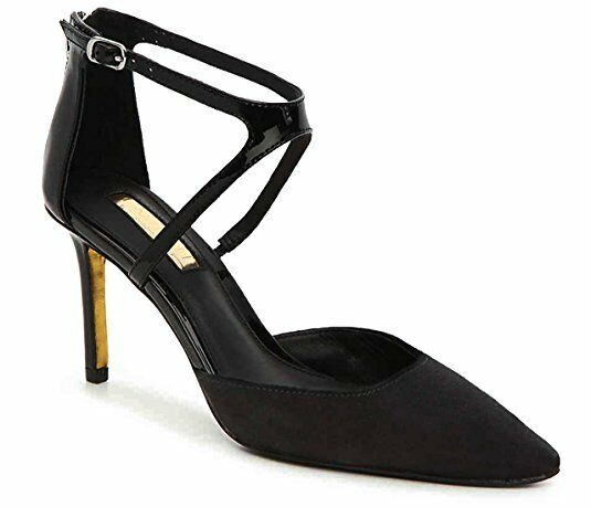 NEW RALPH LAUREN SZ 7 KABIRA KABIRA KABIRA DRESS LEATHER SUEDE schwarz PUMP schuhe HEEL 1dd01a
