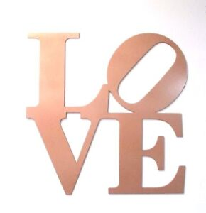 """12"""" Rose Gold Metal Love Sign - Wall Decor Philly Love ..."""