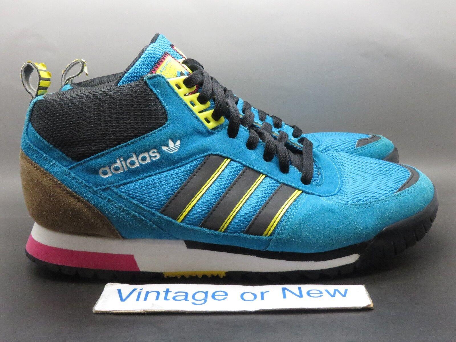 Men's Adidas Originals ZX TR Mid Turquoise Yellow Black Trail G66275 sz 11