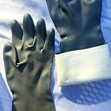 16 Women Rubber Cleaning Gloves Heavy Duty Industrial Sz S 6 Made In France