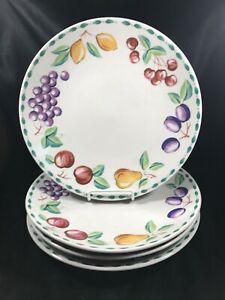 Set-of-4-FARBERWARE-China-ORCHARD-Dinner-Plates