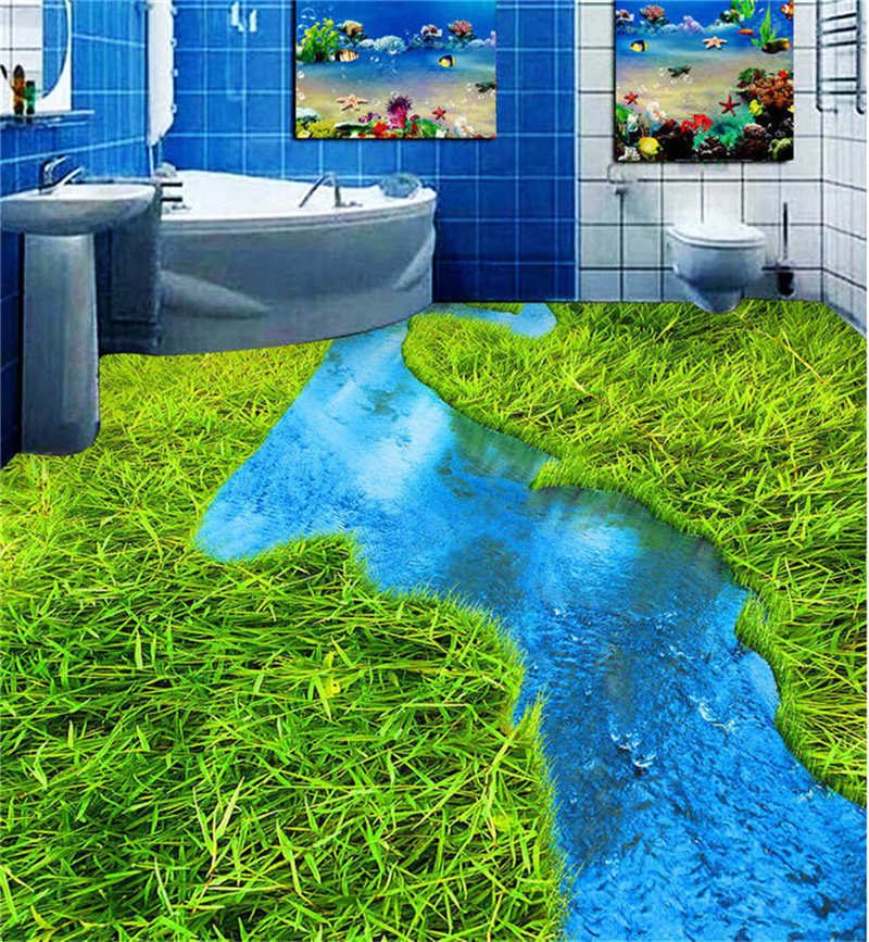 Limpid Rivers 3D Floor Mural Photo Flooring Wallpaper Home Print Decoration Kids