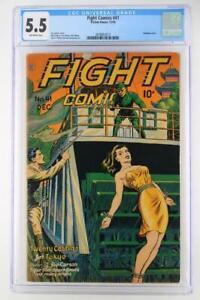 Fight Comics #41 - CGC 5.5 FN- Fiction House 1945 - Bondage cover!