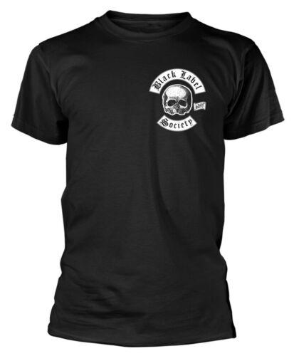 """BLACK LABEL SOCIETY /""""Crâne Logo POCKET/"""" T-shirt-NOUVEAU /& OFFICIEL! Noir"""
