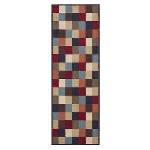 Custom-Size-Stair-Hallway-Runner-Rug-Non-Slip-Rubber-Back-Multicolor-Tiles-Geo