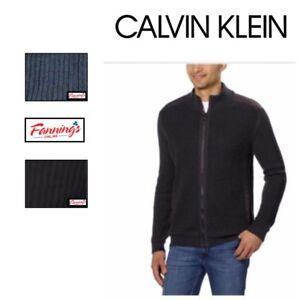 SALE-Calvin-Klein-Men-039-s-Basket-Rib-Sweater-Full-Zip-Jacket-SIZE-amp-COLOR-VARIETY