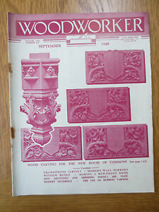 VINTAGE Woodworker Magazine SEPTEMBER 1949 Window Boxes Gramophone Cabinet