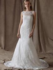 AUTHENTIC Lela Rose The Estate White Lace NEW Wedding Dress 10 RETURN POLICY