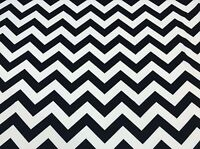 Chevron Black White Polyester Lycra Spandex Jersey Knit Athletic Uniform Fabric