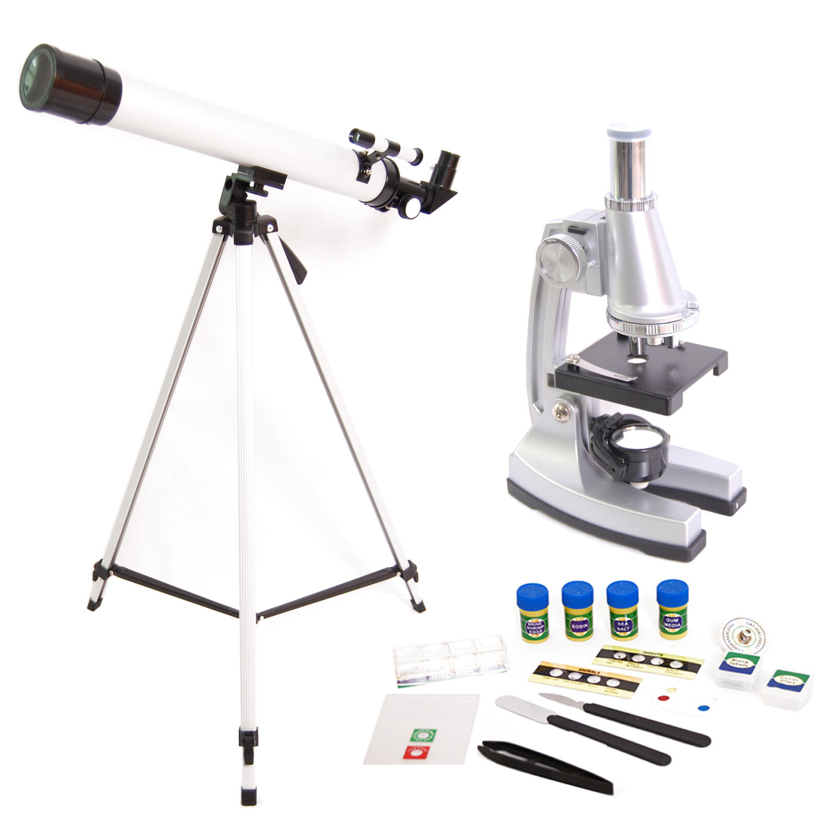DynaSun TWMP0406 Telescope and Microscope 900x Set with Tripod & Accessories