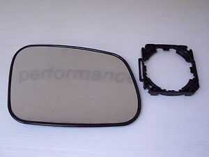Range Rover P38 WING MIRROR GLASS AND ADAPTOR  Right Hand STC4625//BTR6072