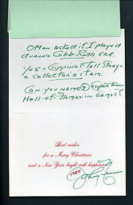 image is loading johnny neun autographed signed christmas card with note