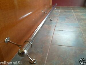 10 Ft Stainless Bar Foot Rail Kit For Home Bar Railing Ebay