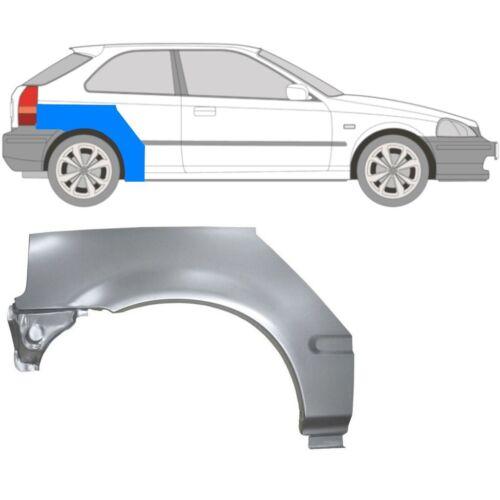 Honda Civic 1995-2001 3 Puertas Arco de Rueda Trasera Alerón Trasero Panel De Reparación//derecha RH