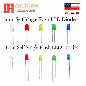 100pcs 5mm Led Flicker Diodes Flashing Yellow Blinking Candle Light Emitting Diode Flickering Flash Blink Led Diodo Intermitente Diodes