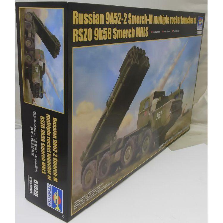 TRUMPETER TRU 01020 1 35 - 9K58 Smerch-M on 9A52-2 MRLS Model Military Kit