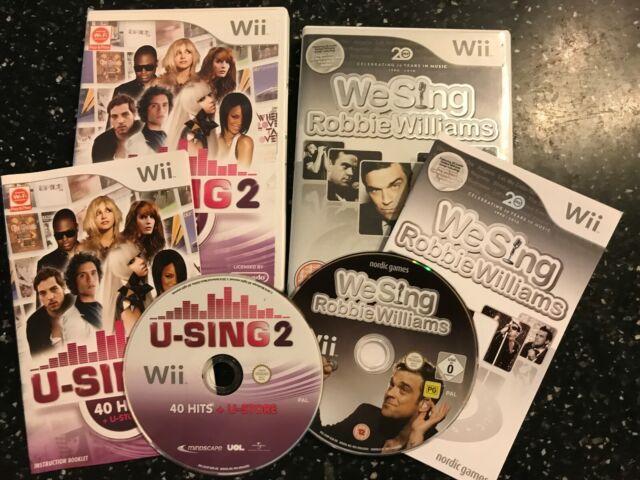2 X PAL NINTENDO WII chant JEUX U-Sing 2 + wii Sing Robbie Williams