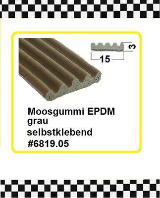 € 5,20/m 3m Moosgummi Selbstklebend Gummidichtung 6819.05 Aus Berlin