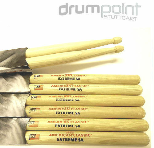 6 Paar Vic Firth American Classic Hickory Extreme X5A Drums Sticks  TOPANGEBOT