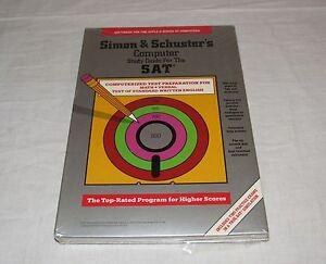 Vintage-Apple-II-IIe-IIc-IIgs-Software-Simon-amp-Schusters-SAT-Study-Guide-Sealed