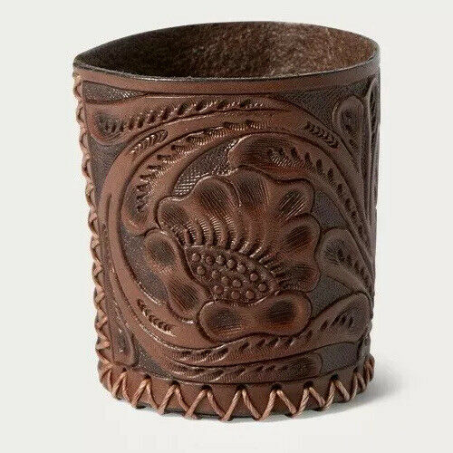 NWT RRL Double RL Ralph Lauren Hand Tooled Leather Cup Sold Out