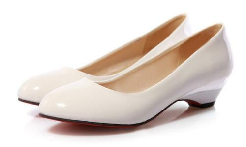 Details about  /Women/'s Comfort Block Low Heel Sweet Pointy Toe Slip On Loafer Pumps Shoes Y181