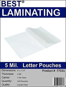 5Mil-Clear-Letter-Size-Thermal-Laminating-Pouches-9-X-11-5-Qty-2-000-Best-Brand