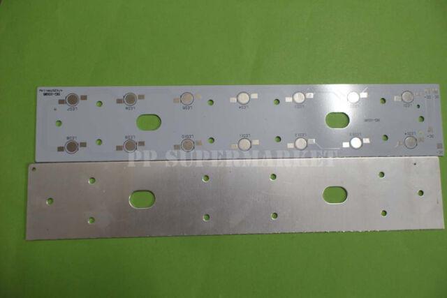 257mm x 47mm Aluminium PCB Circuit Board for 14PCS x 1W,3W,5W LED In Series