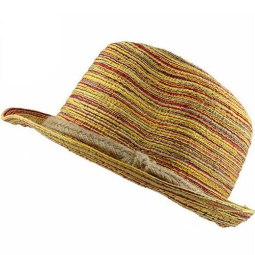 Chapeau de paille unisexe solide tresse Chapeaux Fashion Trilby Chapeau Été Plage Chapeau Panama