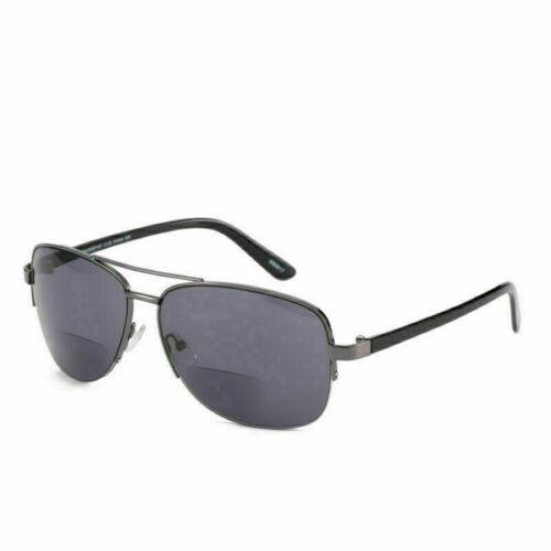 1.0 ~ 3.5 UV Q777 Mens Womens Bifocal Reading Glasses Metal Readers Sunglasses