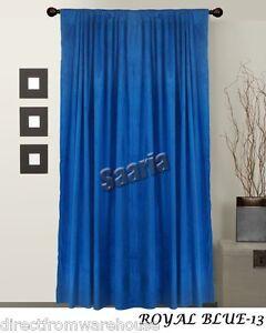 Saaria 100 Thermal Blackout Velvet Curtains Drapes 8 W X 10 H Panel