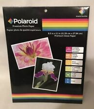 Polaroid - Premium Gloss Photo Paper 16 Sheets 8.5in X 11in Same