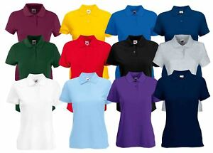 7efd76f2 Fruit Of The Loom Ladies Lady-Fit 65/35 Cadat collar Polo Shirts T ...