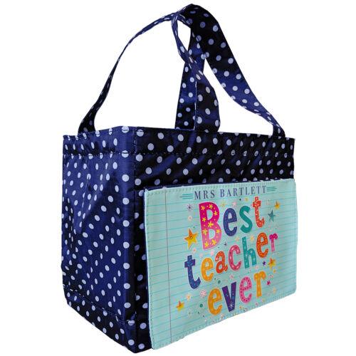 Personalizado Mejor Maestra Almuerzo Bolso Bolso De Escuela Regalo manchada con aislamiento de muñeca OS14