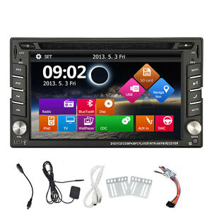 doppel 2 din autoradio navi dvd player gps navigation. Black Bedroom Furniture Sets. Home Design Ideas