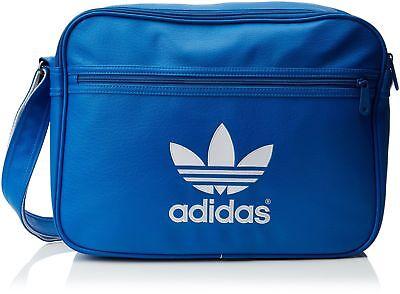 New Adidas ORIGINALS Airline Adicolor Bag  messenger bag laptop sleeve blue 0bf504e636125