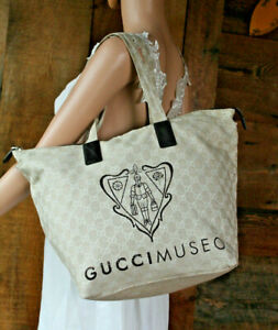 d81aa4773ab5cd Image is loading 1198-GUCCI-Cream-Crest-MUSEO-Tote-Guccissima-Leather-