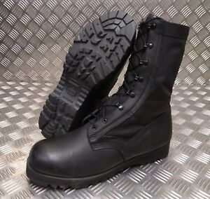 Genuine British Army Wellco Black Leather Warm Weather Jungle Boot UK Size 14XW