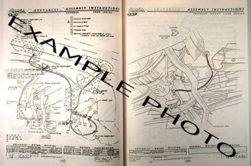 1956 Chevrolet Car Assembly Manual Exploded Views of Parts Chevy Factory
