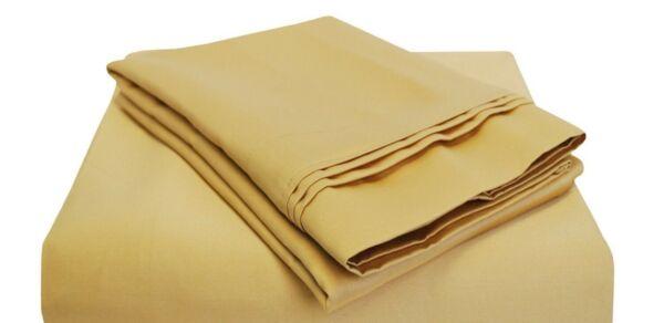(2) Luxor-style 100% Cotone Egiziano 800 Fili Federe ~ King Size 20x 40 Oro