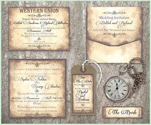 Victorian Vintage SAMPLE Wedding Stationery Invitation Invite