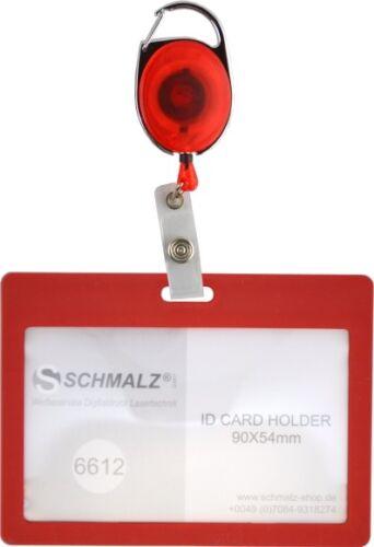 Kartenhalter mit Ausweisjojo Skipasshalter Ausweishülle Kunststoff Werksausweis