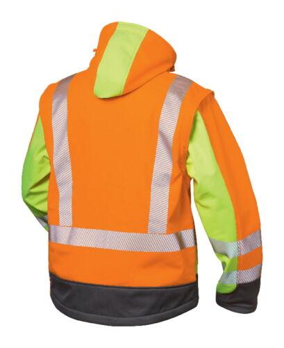 Atanas Warnschutzjacke Softshell Jacke Reflektoren Winter Pilotenjacke orange