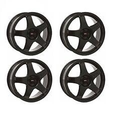 4 x Team Dynamics Black Pro Race 3 Alloy Wheels - 4x100 | 17x7 | ET38