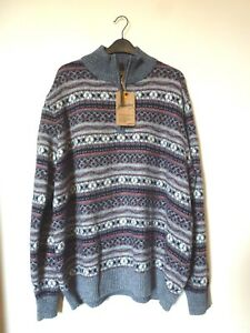053b0c5ff9cb Mantaray Mens 1 4 Zip Funnel Neck Patterned Jumper Size XXL BNWT RRP ...