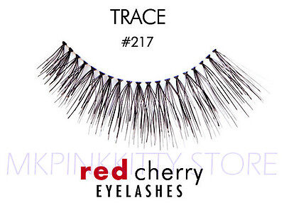 45b389d54a9 2x Red Cherry Trace # 217 False Eyelashes Artificial Black Human ...